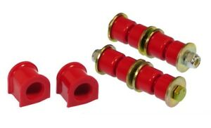 Prothane Front 24mm Sway Bar Bushings End Links For Honda Civic Integra Red