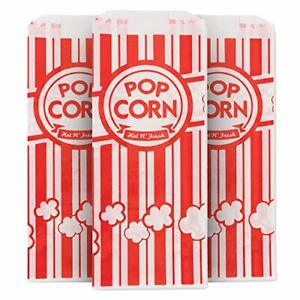 1 Oz Popcorn Bag Red And White Disposable Carnival Bags 500 Count
