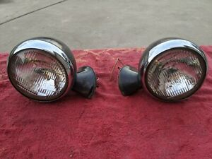 1937 1938 1939 Chevy Pickup Truck Headlight Assembly Pair Sealed Beam