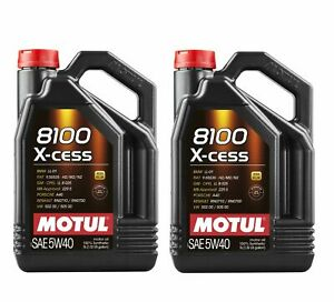 Motul 8100 X cess 5w40 5l Fully Synthetic Performance Engine Motor Oil qty 2