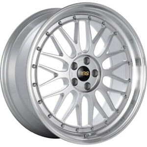 4 19x9 Silver Machined Wheel Bbs Lm 5x120 27