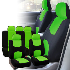 Auto Seat Covers For Car Truck Suv Van Universal Fitmentment Green Black