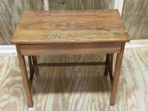 Antique Child S School Desk With Drawer Excellent