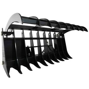 72 Root Grapple Rake For Bobcat Clamshell Attachment For Skid Steer Buckets