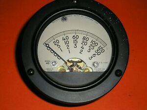 Hickok Milliamp Panel Meter Type 46 Tube Tester 3 1 2 Used Tested