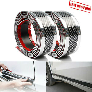 Parts Accessories Car Stickers 3d Carbon Fiber Rubber Protector Car Door Sill