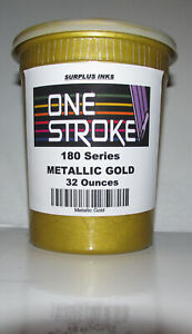 Metallic Gold Plastisol Screen Printing Ink One Stroke 180 Series Surplus
