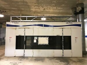 Team Blowtherm Ultraprep Double Bay 2 line Paint Booth Spray Line 80 x24