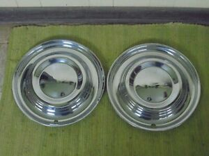 1951 Lincoln Hub Caps 15 Set Of 2 Wheel Covers Hubcaps 51