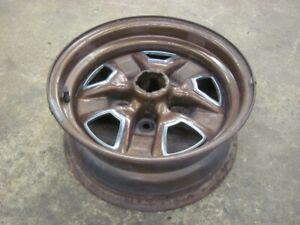 1980 80 Oldsmobile Cutlass 14x6 Rally Wheel Rim Dark Brown Metallic Olds