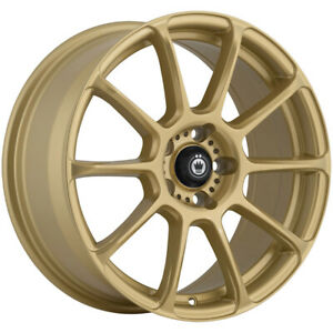 4 Konig 41g Runlite 16x7 5 5x100 45mm Gold Wheels Rims 16 Inch