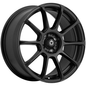 4 Konig 41b Runlite 16x7 5 5x112 45mm Matte Black Wheels Rims 16 Inch