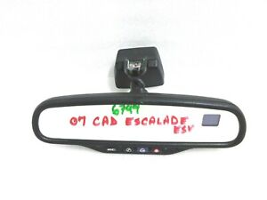 2007 2009 Escalade Tahoe Yukon Sierra Rear View Mirror Auto Dim Compass Temp 51a