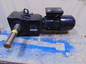 3 4 Hp Nord Electric Motor With Dual Output Gearbox Speed Reducer 1 1 2 Shaft