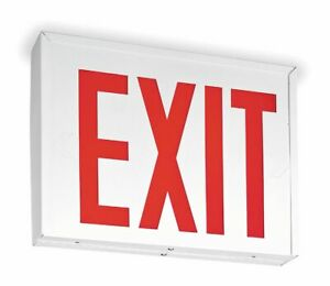 Lithonia Lighting Number Of Faces 1 Or 2 Led Exit Sign White Steel