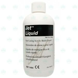 Lang Jet Denture Repair Acrylic Resin Liquid Self Cure 8 Oz 236 Ml 1404