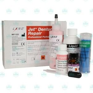 Lang Jet Denture Repair Complete Kit Acrylic Fibered Pink Fast Set 1223fib