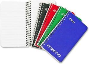 Mead Small Spiral Notebooks Lined College Ruled Paper Pocket Notebook Memo Pa