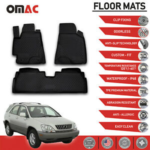 Floor Mats Liner 3d Molded Black Fits Lexus Rx300 1999 2003
