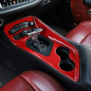 Gear Shift Panel Trim Decoration Accessories For Dodge Challenger 20015 red