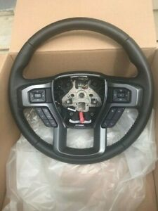 2015 2019 Ford F150 Xlt Sport Steering Wheel Black Leather With Red Stitching
