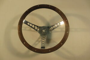 Superior Vintage Real Wood Steering Wheel the 500 13 1 2 Inch Rat Hot Rod