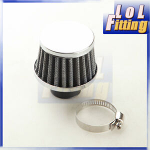 Universal Air Breather Intake Filter Turbo Vent Crankcase 1 25mm Black