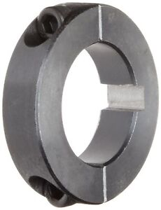 Climax Metal 2c 125 kw Two piece Clamping Collar With Keyway Black Oxide Pl