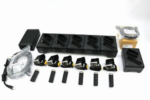 Lot Of 6 Zebra Rs60b0 mrstwr With Cradle Kit Barcode Scanner