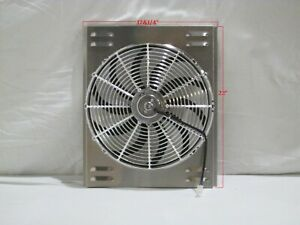17 X 22 Universal Radiator Fan Shroud And 16 Chrome Fan 2600cfm