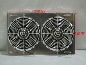 25 X 15 Universal Cross Flow Shroud And Dual 12 Fans