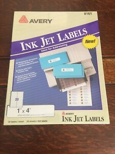 Avery 8161 White Easy Peel Address Labels 1 X 4 500 Labels