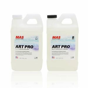 Art Resin Epoxy Clear And Hardener Two Part Professional Grade Crystal 2 Gallon