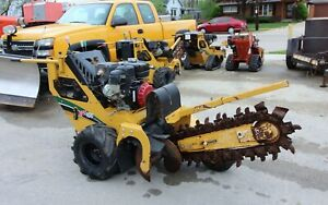 2014 Vermeer Rtx100 Walk Behind 2 Trencher 24 X 4 Trench