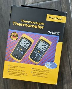 Fluke 52 2 Ii 60hz Dual Input Digital Thermocouple Thermometer Our Daily Deal