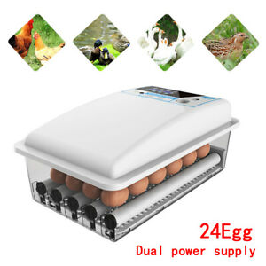 Auto turning Digital 24 Eggs Incubator Automatic Hatch Chicken Duck Egg Turner