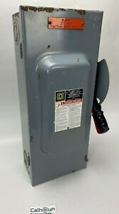 Square D 100 Amp Fused Safety Switch 600 Vac 75 Hp 3 Phase Type 1 H363 Warranty