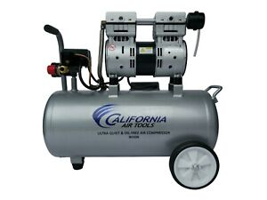 California Air Tools 8010a Ultra Quiet Oil free Lightweight Compressor Used