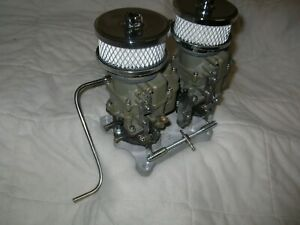 Holley 4bbl Adapter With Two Holley 94 Carbs Vintage Speed