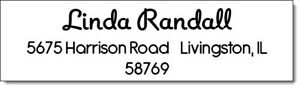 320 Personalized Name Return Address Labels 1 2 X 1 75 Inch Name Design 1