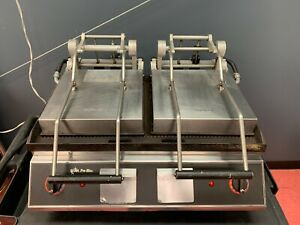 Star Pro max Panini Grill Commercial Pro max Two sided Grooved Grill dual Doors