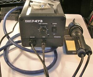 Hakko 473 Desoldering Station With Handle New Tips Vacuum Hose And Stand