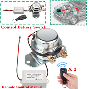 Silver 12v 24v Car Battery Master Disconnect Latching Relay Cut Off Kill Switch