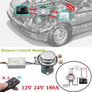 Car Battery Switch Remote Control Manual Disconnect Latching Relay 12v 24v 180a