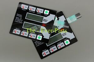9801 100 001 Black Membrane Switch Touch Pad For New Dexter Stack Dryer 2 Pcs