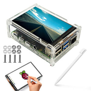3 5 Tft 6led Touch Screen Monitor Lcd case touch Pen For Raspberry Pi 4 Model B