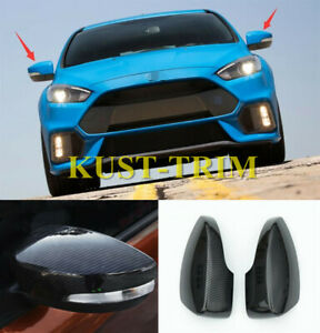 For Ford Focus Rs St 2013 2018 Carbon Fiber Style Rearview Mirrors Cover 2pcs
