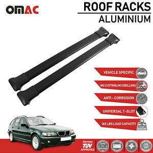 Roof Rack Cross Bars Luggage Carrier Black For Bmw 3 Series E46 Wagon 1998 2005