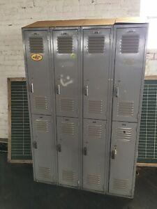 Metal Work Lockers School gym 8 Doors vintage Industrial Scott Tobacco Bg Ky