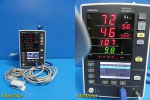 Datascope Mindray Accutorr V Monitor W Nbp Hose Spo2 Cable Thermometer 21288